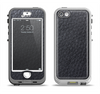 The Black Leather Apple iPhone 5-5s LifeProof Nuud Case Skin Set