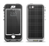 The Black Luxury Plaid Apple iPhone 5-5s LifeProof Nuud Case Skin Set