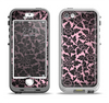 The Black & Pink Floral Design Pattern V2 Apple iPhone 5-5s LifeProof Nuud Case Skin Set