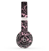 The Black & Pink Floral Design Pattern V2 Skin Set for the Beats by Dre Solo 2 Wireless Headphones