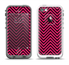The Black & Pink Sharp Chevron Pattern Apple iPhone 5-5s LifeProof Fre Case Skin Set