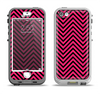 The Black & Pink Sharp Chevron Pattern Apple iPhone 5-5s LifeProof Nuud Case Skin Set