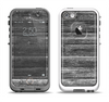 The Black Planks of Wood Apple iPhone 5-5s LifeProof Fre Case Skin Set