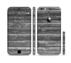 The Black Planks of Wood Sectioned Skin Series for the Apple iPhone 6/6s
