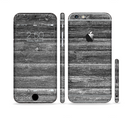 The Black Planks of Wood Sectioned Skin Series for the Apple iPhone 6/6s Plus