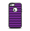 The Black & Purple Chevron Pattern Apple iPhone 5-5s Otterbox Defender Case Skin Set
