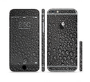 The Black Rain Drops Sectioned Skin Series for the Apple iPhone 6/6s Plus