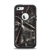 The Black Torn Woven Texture Apple iPhone 5-5s Otterbox Defender Case Skin Set