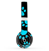 The Black & Turquoise Paw Print Skin Set for the Beats by Dre Solo 2 Wireless Headphones