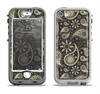 The Black & Vintage Green Paisley Apple iPhone 5-5s LifeProof Nuud Case Skin Set