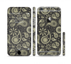 The Black & Vintage Green Paisley Sectioned Skin Series for the Apple iPhone 6/6s