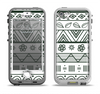 The Black & White Floral Aztec Pattern Apple iPhone 5-5s LifeProof Nuud Case Skin Set