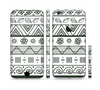 The Black & White Floral Aztec Pattern Sectioned Skin Series for the Apple iPhone 6/6s