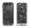 The Black & White Floral Lace Apple iPhone 5-5s LifeProof Fre Case Skin Set