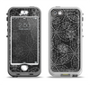The Black & White Floral Lace Apple iPhone 5-5s LifeProof Nuud Case Skin Set