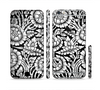 The Black & White Mirrored Floral Pattern V2 Sectioned Skin Series for the Apple iPhone 6/6s