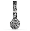 The Black & White Mirrored Floral Pattern V2 Skin Set for the Beats by Dre Solo 2 Wireless Headphones