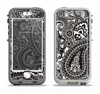 The Black & White Pasiley Pattern Apple iPhone 5-5s LifeProof Nuud Case Skin Set