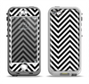 The Black & White Sharp Chevron Pattern Apple iPhone 5-5s LifeProof Nuud Case Skin Set