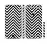 The Black & White Sharp Chevron Pattern Sectioned Skin Series for the Apple iPhone 6/6s