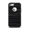 The Black Wood Texture Apple iPhone 5-5s Otterbox Defender Case Skin Set