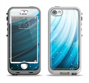 The Black and Blue Highlighted HD Wave Apple iPhone 5-5s LifeProof Nuud Case Skin Set