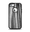 The Black and Grey Frizzy Texture Apple iPhone 5-5s Otterbox Defender Case Skin Set