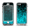 The Black and Turquoise Unfocused Sparkle Print Apple iPhone 5-5s LifeProof Nuud Case Skin Set