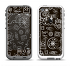 The Black and White Cave Symbols Apple iPhone 5-5s LifeProof Fre Case Skin Set