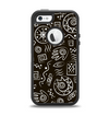The Black and White Cave Symbols Apple iPhone 5-5s Otterbox Defender Case Skin Set