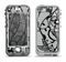The Black and White Lace Design Apple iPhone 5-5s LifeProof Nuud Case Skin Set