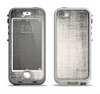 The Black and White Scratched Texture Apple iPhone 5-5s LifeProof Nuud Case Skin Set