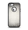 The Black and White Scratched Texture Apple iPhone 5-5s Otterbox Defender Case Skin Set