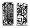 The Black and White Shards Apple iPhone 5-5s LifeProof Fre Case Skin Set