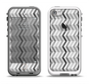 The Black and White Thin Lined ZigZag Pattern Apple iPhone 5-5s LifeProof Fre Case Skin Set