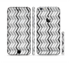 The Black and White Thin Lined ZigZag Pattern Sectioned Skin Series for the Apple iPhone 6/6s Plus