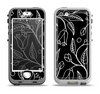 The Black and White Vector Branches Apple iPhone 5-5s LifeProof Nuud Case Skin Set