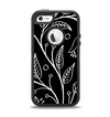 The Black and White Vector Branches Apple iPhone 5-5s Otterbox Defender Case Skin Set