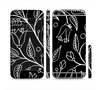 The Black and White Vector Branches Sectioned Skin Series for the Apple iPhone 6/6s