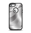The Black and White Wavy Surface Apple iPhone 5-5s Otterbox Defender Case Skin Set