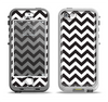 The Black and White Zigzag Chevron Pattern Apple iPhone 5-5s LifeProof Nuud Case Skin Set