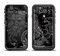 The Black with Thin White Paisley Pattern Apple iPhone 6/6s LifeProof Fre Case Skin Set
