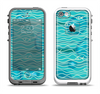 The Blue Abstarct Cells with Fish Water Illustration Apple iPhone 5-5s LifeProof Fre Case Skin Set