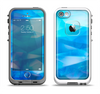 The Blue Abstract Crystal Pattern Apple iPhone 5-5s LifeProof Fre Case Skin Set