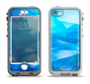 The Blue Abstract Crystal Pattern Apple iPhone 5-5s LifeProof Nuud Case Skin Set