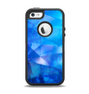 The Blue Abstract Crystal Pattern Apple iPhone 5-5s Otterbox Defender Case Skin Set