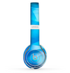 The Blue Abstract Crystal Pattern Skin Set for the Beats by Dre Solo 2 Wireless Headphones