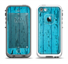 The Blue Aged Wood Panel Apple iPhone 5-5s LifeProof Fre Case Skin Set