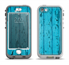 The Blue Aged Wood Panel Apple iPhone 5-5s LifeProof Nuud Case Skin Set
