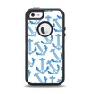 The Blue Anchor Stitched Pattern Apple iPhone 5-5s Otterbox Defender Case Skin Set
